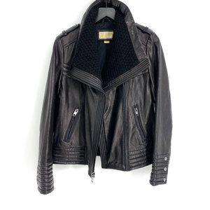 MICHAEL MICHAEL KORS Asymmetrical Leather Jacket
